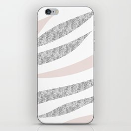 HAPPY ABSTRACT | silver-orange zebra pattern iPhone Skin