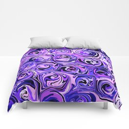 Violet and Lilac Paint Swirls Comforters