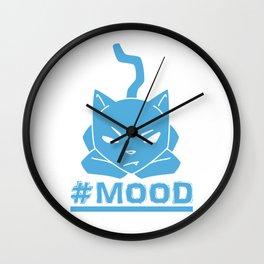 #MOOD Cat Blue Wall Clock