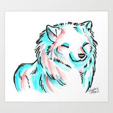 Brush Breeds-Samoyed Art Print