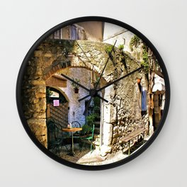 Romantic Resting Place Wall Clock