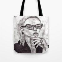 daria Tote Bags featuring Daria by Yuval Ozery