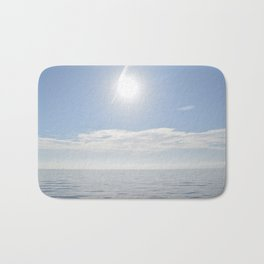 summer, could and sea in the Balearic Island Bath Mat