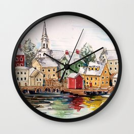 Portsmouth, New Hampshire Wall Clock
