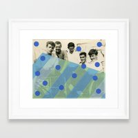 boys Framed Art Prints featuring Boys by Naomi Vona