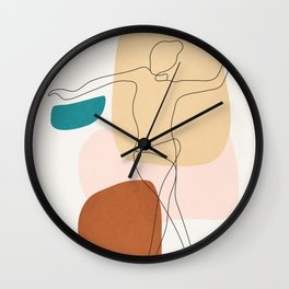 Summer Dance I Wall Clock