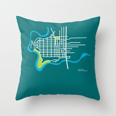 West Central, Spokane Throw Pillow