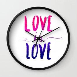 Love is Love - bi Wall Clock