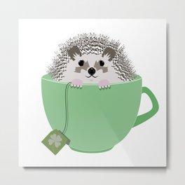 St. Patrick's Hedgehog Metal Print