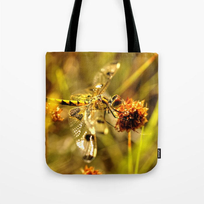 Black-tailed Skimmer Dragonfly Tote Bag