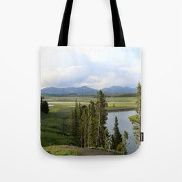 Yellowstone River Valley View Tote Bag