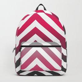 Hot pink Zig zag pattern Backpack