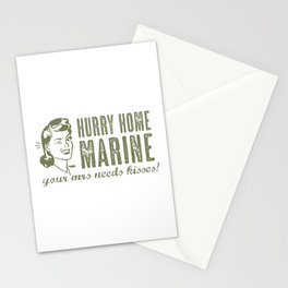 Hurry Home Marine Stationery Cards