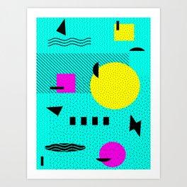 Hello Memphis Lemon Splash Art Print