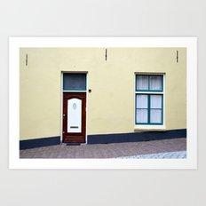 Dutch door and window Art Print
