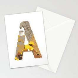 A as Archaeologist Stationery Cards