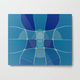 Abstract Lake Water Metal Print