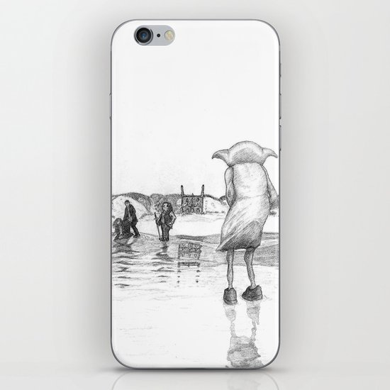"""""""Death of a Free Elf"""" - Dobby in Deathly Hallows iPhone & iPod Skin"""