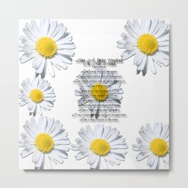 Daisy Flower with Christian Faith Base Poem Metal Print