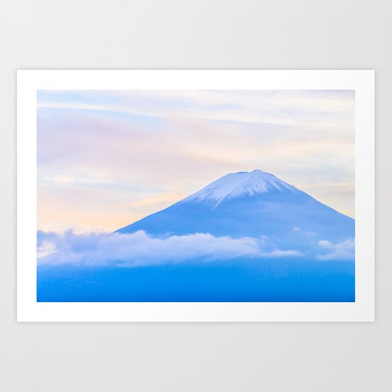 pastel mountain #sky Art Print