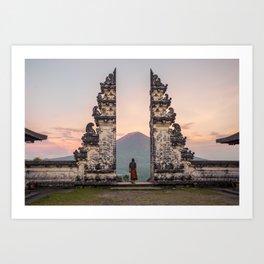A new day. Bali, Indonesia. Art Print