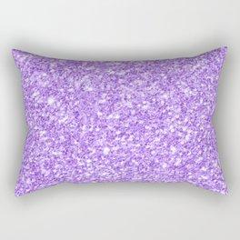 Purple glitter & sparkles texture print Rectangular Pillow