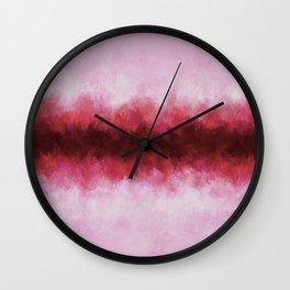 Strawberry Pink Horizon Wall Clock