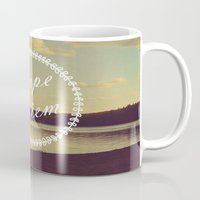 carpe diem Mugs featuring Carpe Diem  by Rachel Burbee