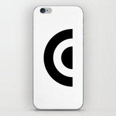 E - Alphabet iPhone & iPod Skin