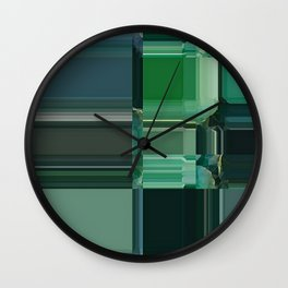 Line\green\abstract\glitch Wall Clock
