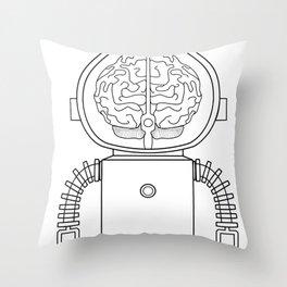 RobotSpaceBrain Throw Pillow