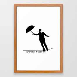 no safety net Framed Art Print