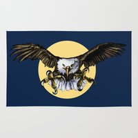 eagle Area & Throw Rugs featuring Eagle by Anna Shell