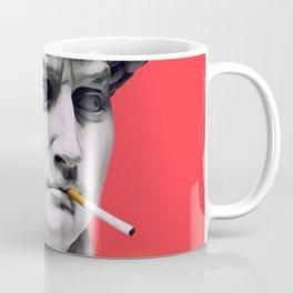 The Statue of David (Michelangelo) with Cigarette Coffee Mug