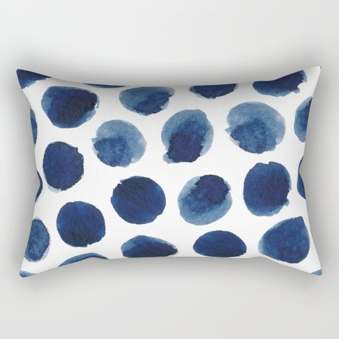 Watercolor polka dots Rectangular Pillow