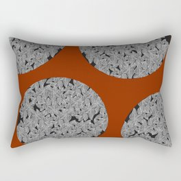 Leaf Dots (multiples) Rectangular Pillow
