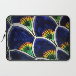HAND PAINTED PEACOCK FEATHERS Laptop Sleeve