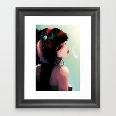 La Cantatrice en greve... Framed Art Print