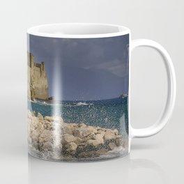 Napoli. Waves on the rocks. Coffee Mug