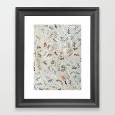 Vintage Postal Ephemera - Mr. Zip Framed Art Print