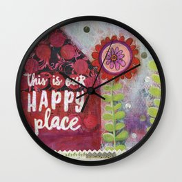 This is Our Happy Place Collage Wall Clock