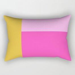 Geometric Bauhaus Style Color Block in Bright Colors Rectangular Pillow