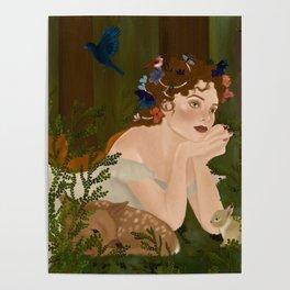 Mielikki, Finnish goddess of the forest Poster