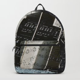 Piano Keys black and white - music notes Backpack