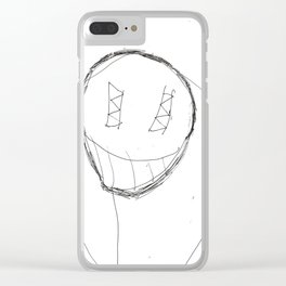 Scary Guy Clear iPhone Case