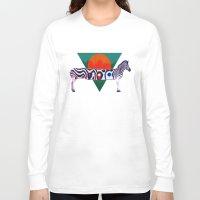 zebra Long Sleeve T-shirts featuring Zebra by Ali GULEC