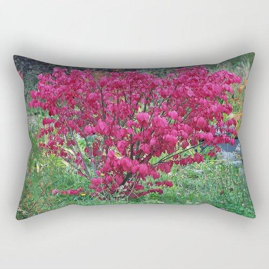 Red Bush Rectangular Pillow