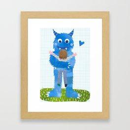 Monster hug. Framed Art Print