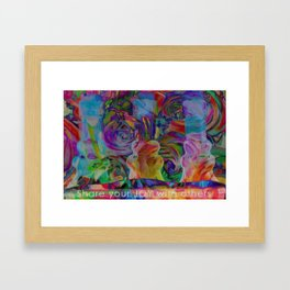 Share your JOY with Others Framed Art Print
