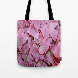 Pink Hydrangea Flowers Background Tote Bag